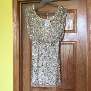 Gold Sparkly Sequin Dress - NWT size 2